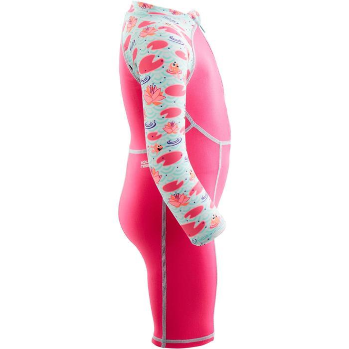 Zwempakje met lange mouwen voor peuters print roze
