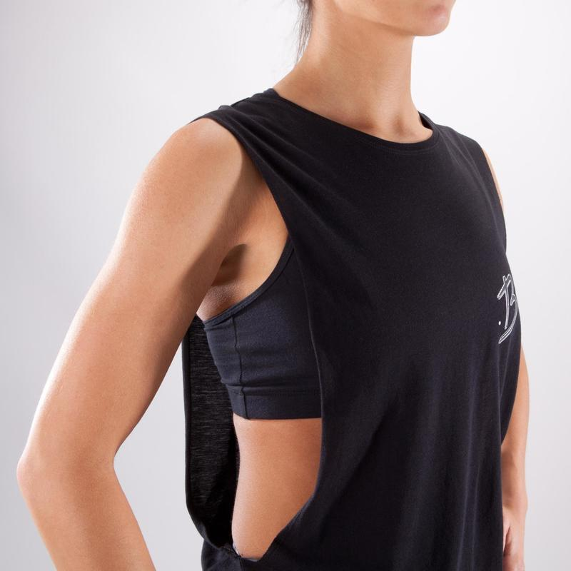Dámské taneční tričko bez rukávů černé  84ff4d4c88