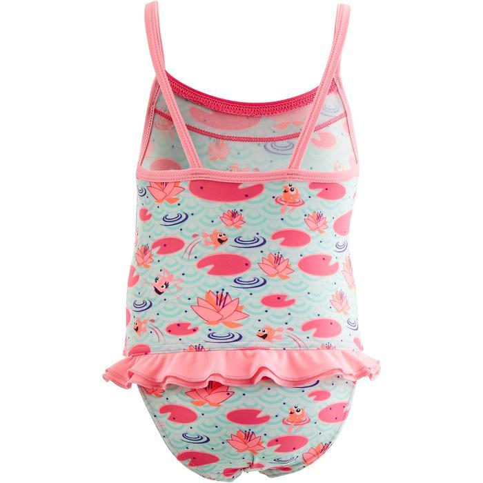 Maillot de bain bébé fille une pièce madina imprimé rose