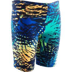 Zwemjammer voor jongens 900 Print Alljun marineblauw