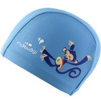 Bonnet de bain maille imprimé taille P Singe bleu