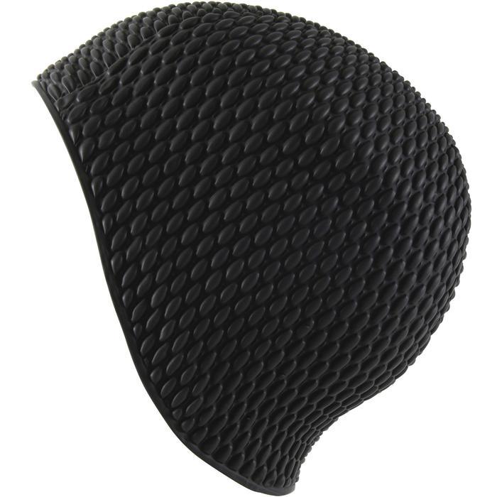 Bonnet de bain gaufré noir
