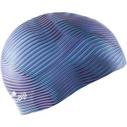 Badekappe Silikon 500 Print Vib blau