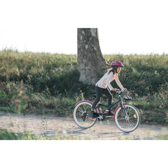 "Kinderfahrrad 24"" Trekkingrad Original 500 blau/pink"