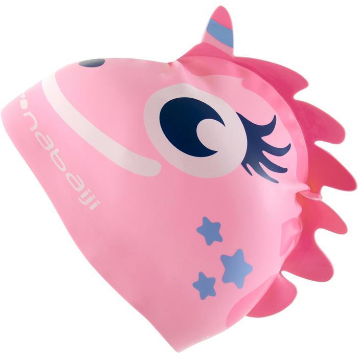 矽膠造型泳帽 - 獨角獸,粉紅色