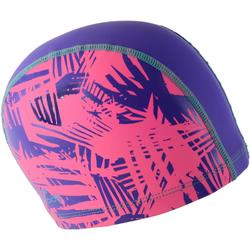 Stoffen badmuts met siliconen coating, met print, maat L Rif roze