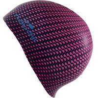 SILICONE PRINT SWIM CAP - TEC PINK