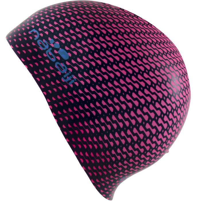 Siliconen badmuts met print Tec roze