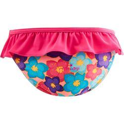 Maillot de bain une pièce culotte bébé imprimé rose