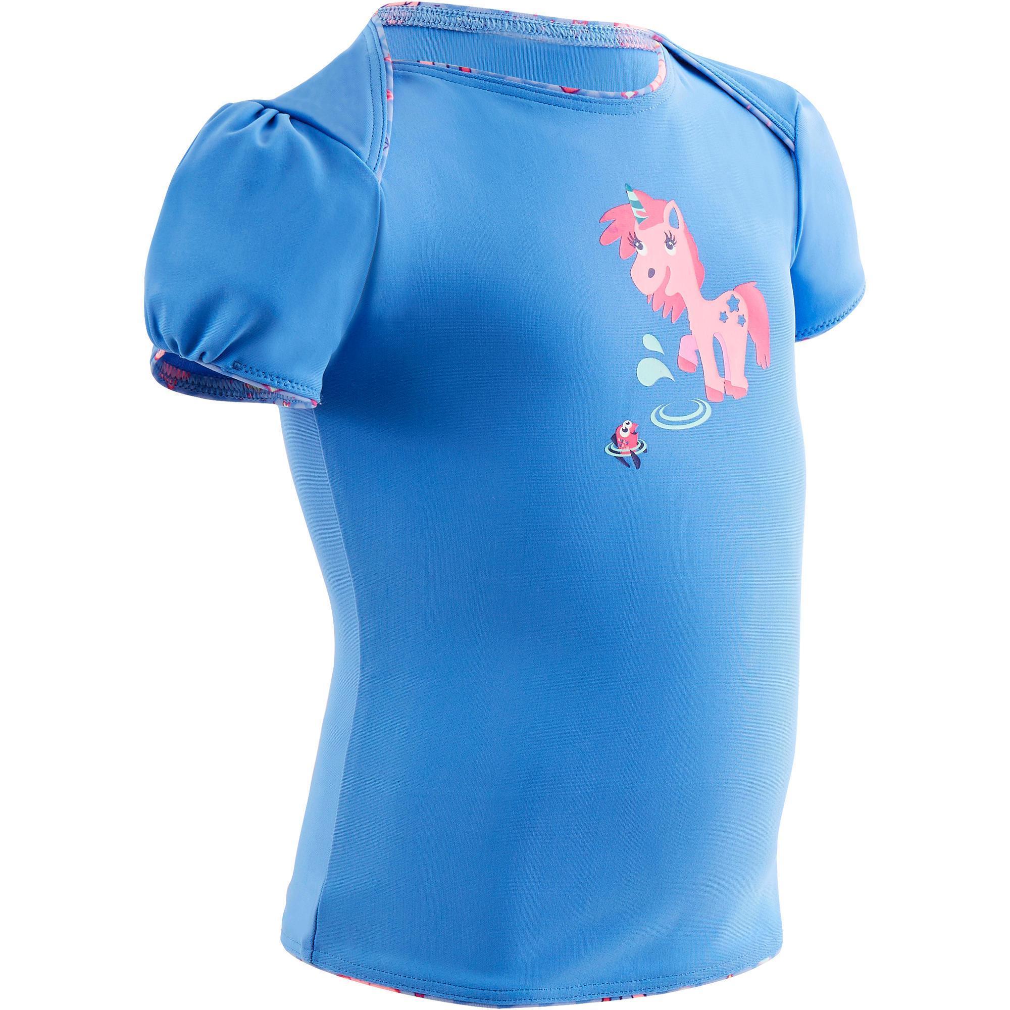 Baby,Kinder,Mädchen,Kinder Badeanzug Tankini Top 100 Baby Mädchen Print Einhorn blau   03583788142614