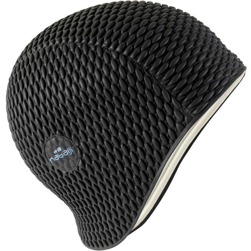 Embossed Swimming Cap - Black