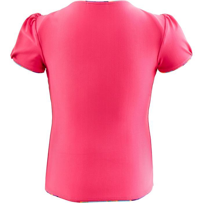 "Maillot de bain bébé fille tankini top rose avec imprimé ""fleurs"""