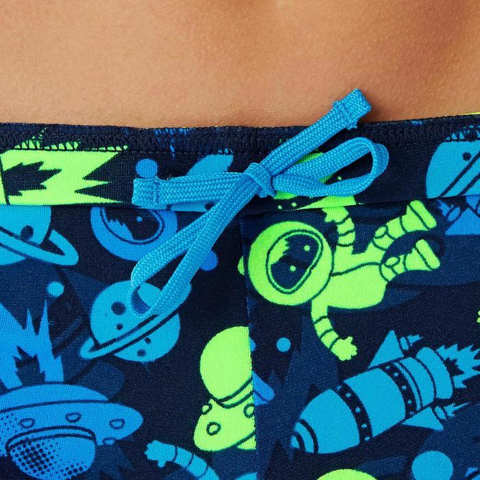 Badehose Boxer 500 Print All Astro Jungen grün