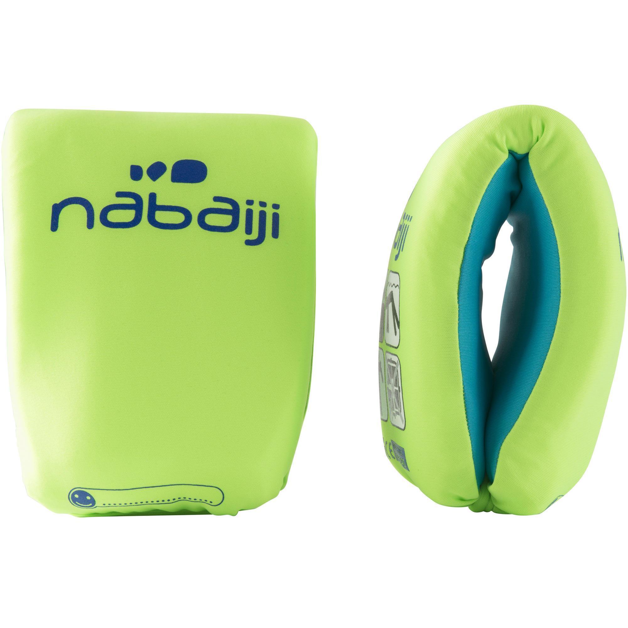Brassards natation verts en mousse nabaiji for Protege oreille piscine decathlon