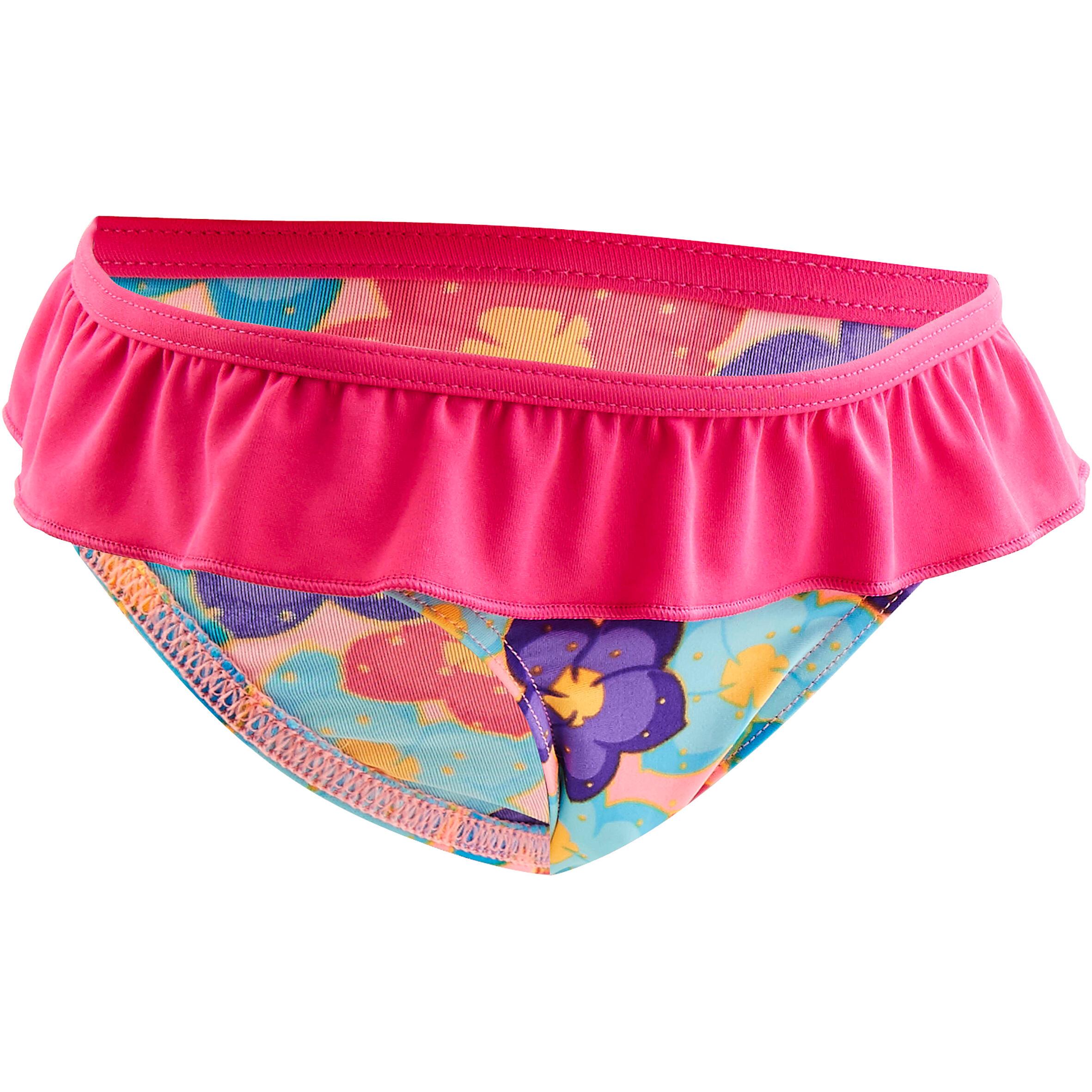 Maillot de bain une pièce culotte bébé imprimé rose nabaiji
