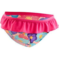 """Maillot de bain une pièce culotte bébé fille rose imprimé """"papillons"""""""