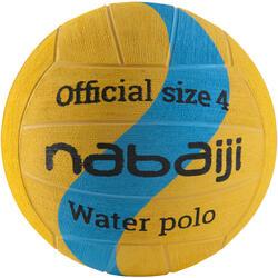 Waterpolobal maat 4 geel/blauw