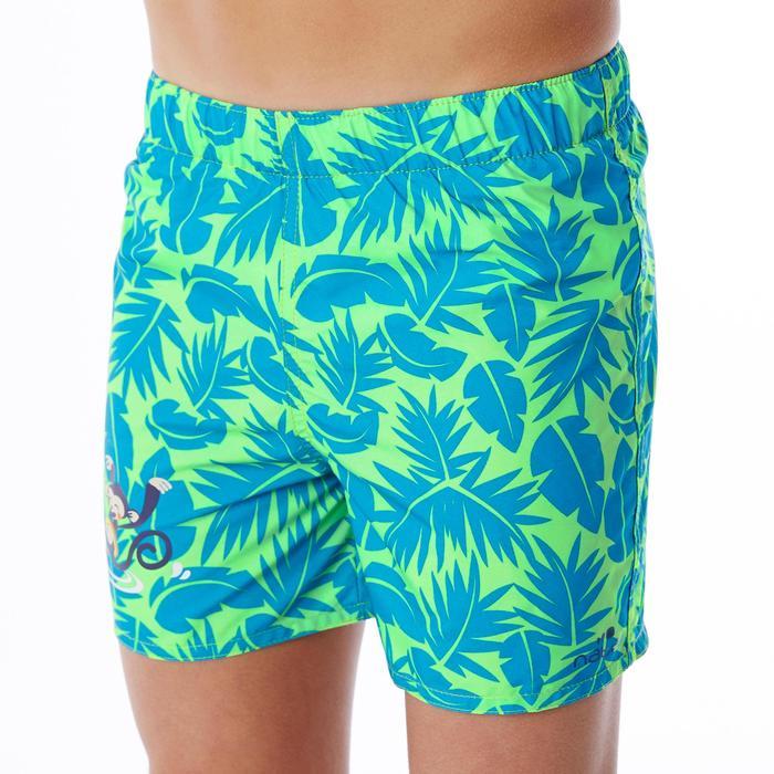 Badeshorts Baby Jungen Print All Palm grün