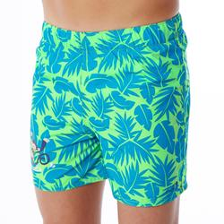 Short de natación bebé niño estampado all palm verde