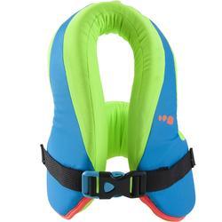Schwimmlernweste Swimvest+ 15–25kg blau/grün
