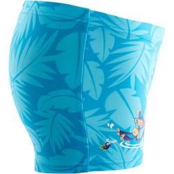 Blue Baby Boy's Monkey Print Boxer Swim Shorts