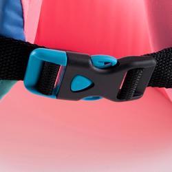 Schwimmlernweste Swimvest+ 15–25 kg blau/rosa