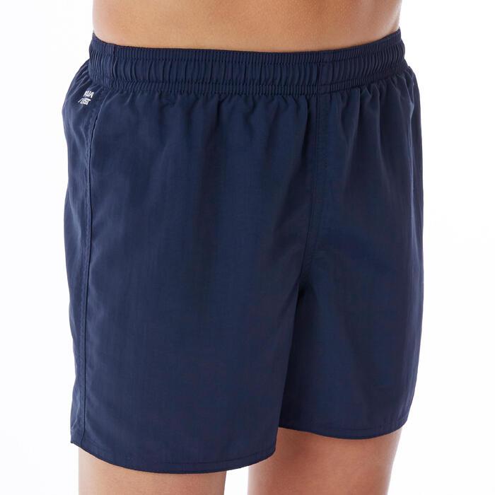 Zwemshort jongens Swimshort 100 Basic marineblauw