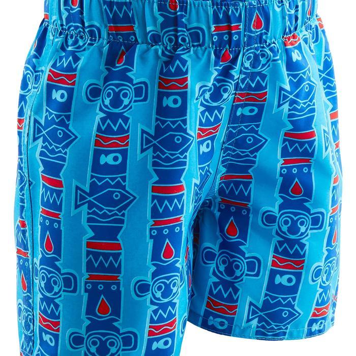 Zwemshort voor jongens all totem blauw met opdruk