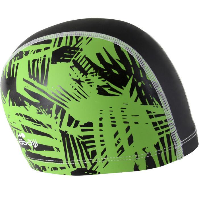 Badekappe Stoff mit Silikon beschichtet Rif Größe S Print grün