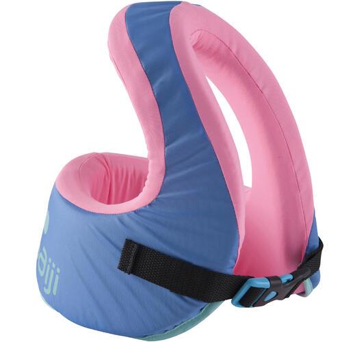Gilet de natation SWIMVEST+ bleu-rose - 25-35 kg