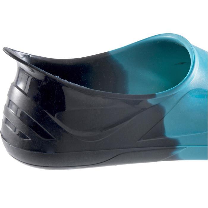 Schwimmflossen kurz Silifins dreifarbig blau/grün