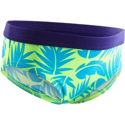 Badehose Slip Captain Baby All Palm grün
