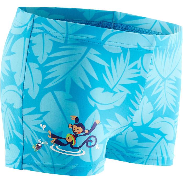 Bañador bebé niño bóxer estampado Monkey azul