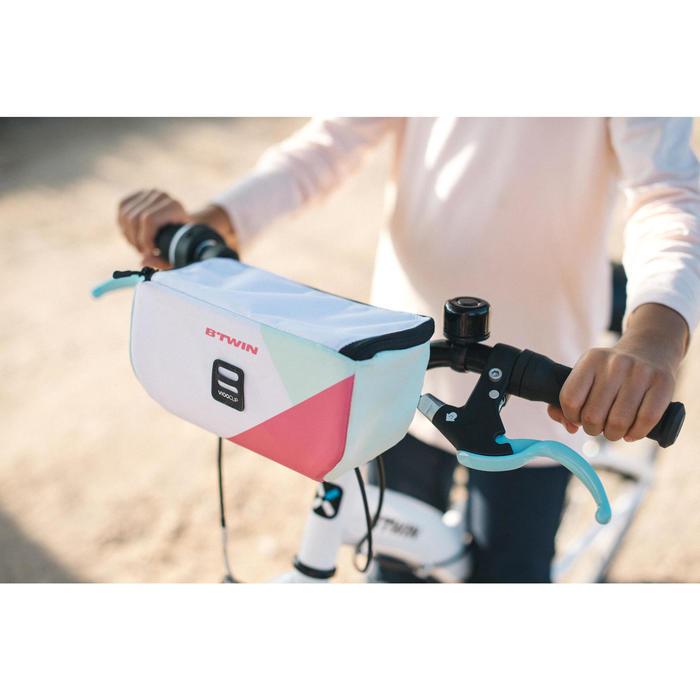 Fahrradtasche vorne Kinder weiß/rosa