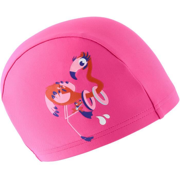 Bonnet de bain maille print taille S Flamingo rose