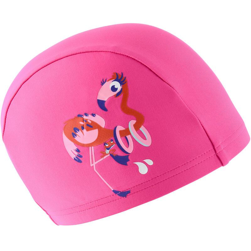 stoffen badmuts print maat S flamingo roze