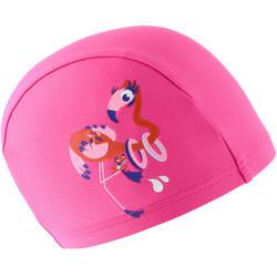 Badmuts textiel met print maat S flamingoroze