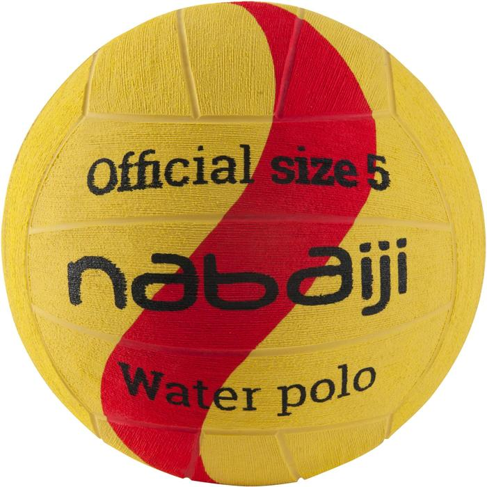BALLON WATER POLO HOMME TAILLE 5 JAUNE ROUGE