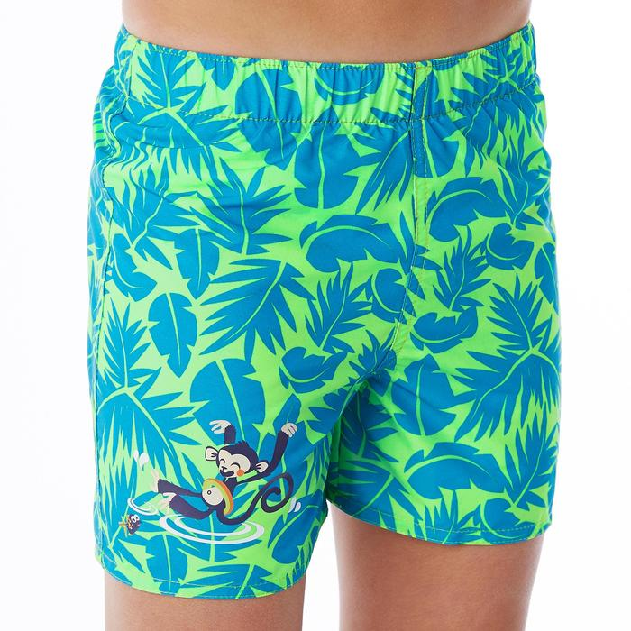 Zwemshort voor jongens all palm groen met opdruk