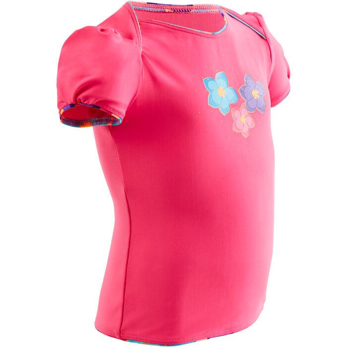 Bañador Bebe Piscina Natación Top Nabaiji Niña Rosa Estampado Flores