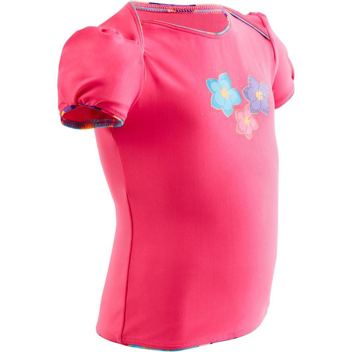 "Maillot de bain bébé fille tankini top rose imprimé ""fleurs"""