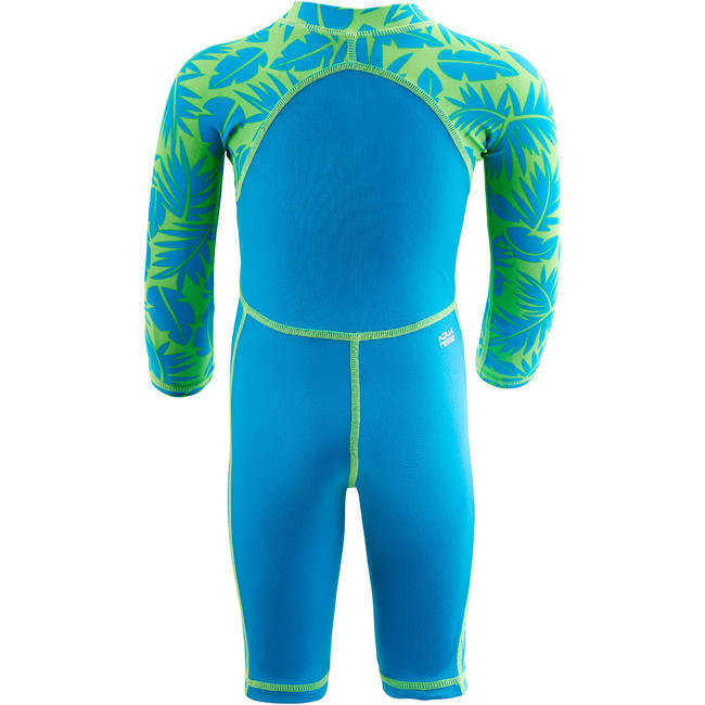 Baby Swimming Costume full sleeves with shorts - Printed Blue
