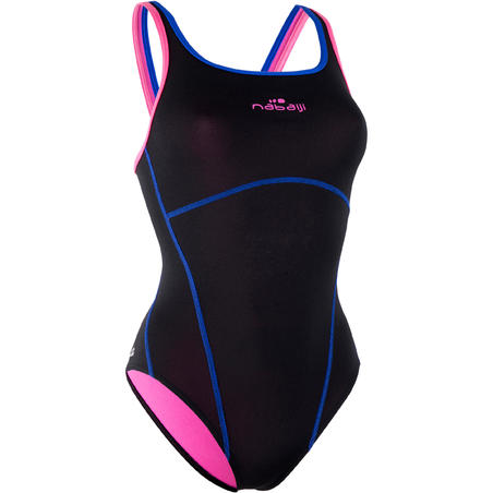 Kamiye+ Women's One-Piece Swimsuit - Black Pink