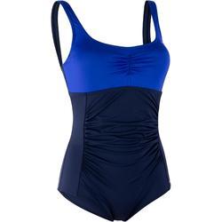 Bañador de 1 pieza de aquagym moldeador para mujer Mary azul