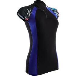 Bikinitop voor dames Anna zwart tropisch