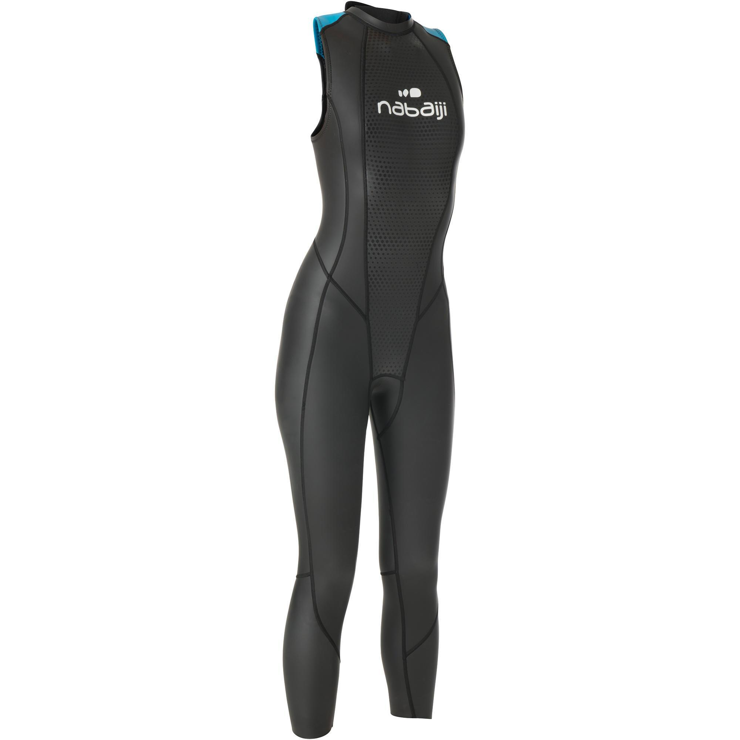 Nabaiji Mouwloze neopreen dames wetsuit OWS 500 2,5/2 mm gematigd warm water