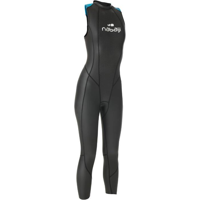 Schwimmanzug Neopren ärmellos OWS 500 2,5/2mm temperierte Gewässer Damen