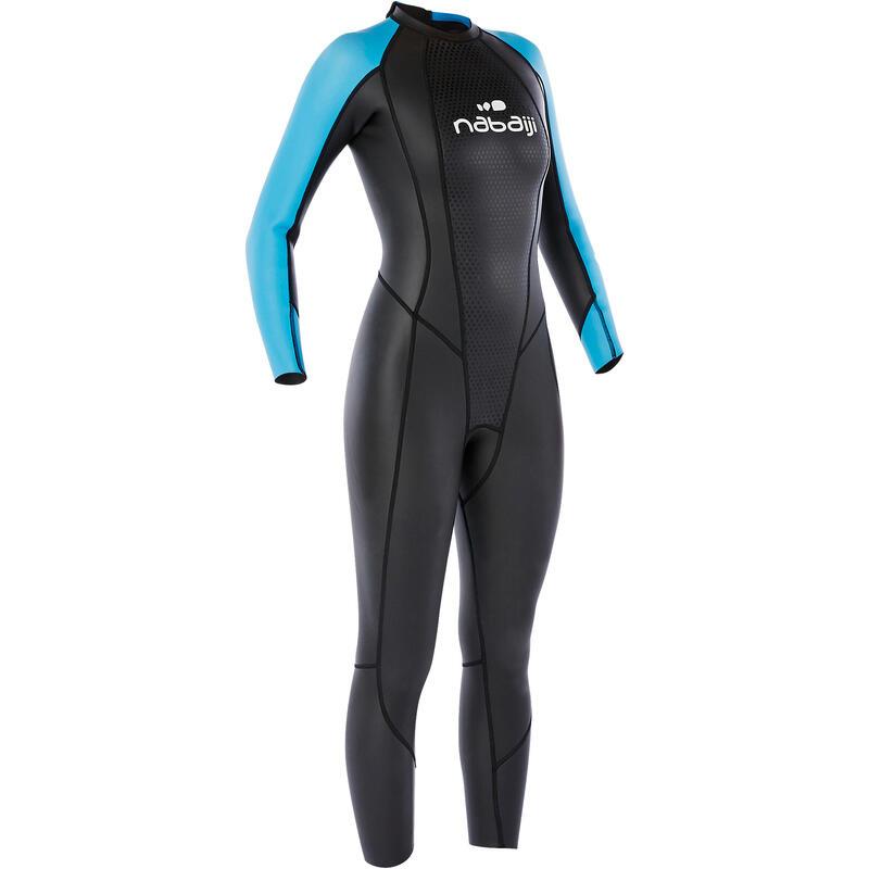 Women's Open Water Swimming 2/2 mm Neoprene Glideskin Wetsuit OWS