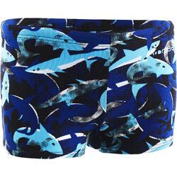 Badehose Boxer 500 Print Alljaws Jungen blau