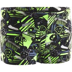 Badehose Boxer 500 Print Alljol Jungen grün